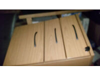 3 DRAW FILING CABINETS FOR SALE IN BEECH