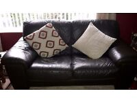 Leather settees brown sofa