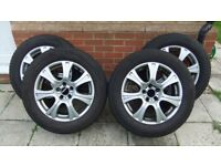 Set of Alloy Wheels and Gislaved Winter Tyres 255/55 R18 109 H XL suited to X5/SUV