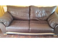 Very good condition 3 piece suite italian leather