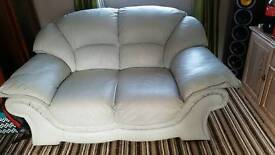 Light blue soft leather 2 seater 1 year old