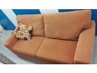 3 Seater Fabric Sofa - Terracotta Red colour [Originally from DFS]