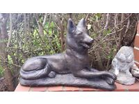 Dog garden ornament