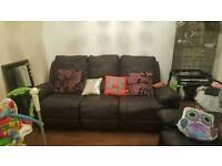 2 and 3 seater recliner black