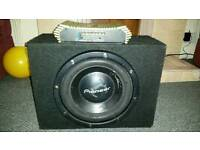 Car subwoofer and amplifier