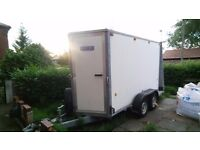 1.8 x 4.5 mtr ifor williams twin wheel box trailer . Only used for storage .excellent condition.