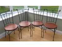 4 contemporary dining chairs