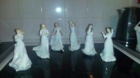 6 royal doulton figurines