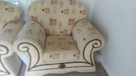 Almost New Fabric Sofa Set