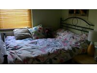 Double bed - metal frame £30 for quick sale