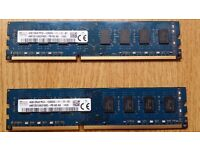 HYNIX 4 GB X 2 = 8 GB TOTAL - PC3 12800 DDR 3 1600 MHZ RAM.