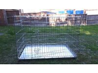Dog crate X Large, foldable, training cage or large breed