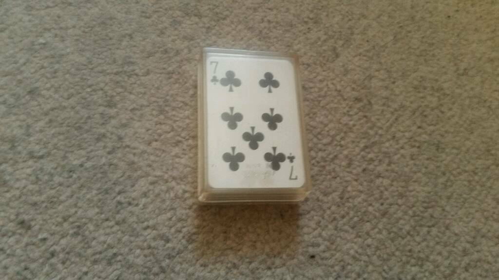 Mini pack playing card in plastic case box