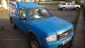 Ford Ranger Pick-up 4x4 , single cab 2.5lt turbo diesel, 2004-54-reg, 156,000 miles, new mot