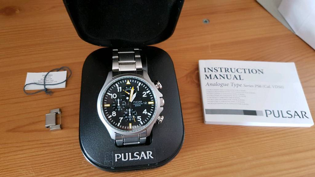 Pulsar By Seiko 100m Chronograph Mans Watch In Crook County