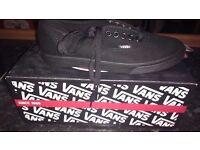 Vans trainers size 2.5 black