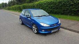 "Peugeot 206 gti lookalike. Full MOT 92000 miles 17"" alloys"
