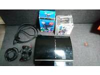 PlayStation 3 Console PS3 Move + 10 Games