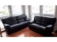 Two Leather Sofas in Excellent Condition