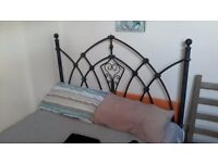 Metal Frame double bed with mattress (As NEW)
