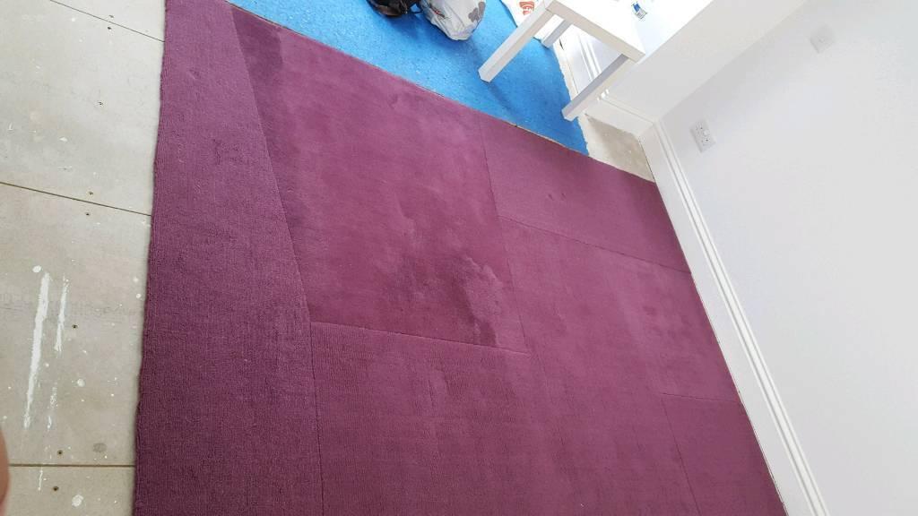 Large Purple Rug Ikea Andrea 100 Wool