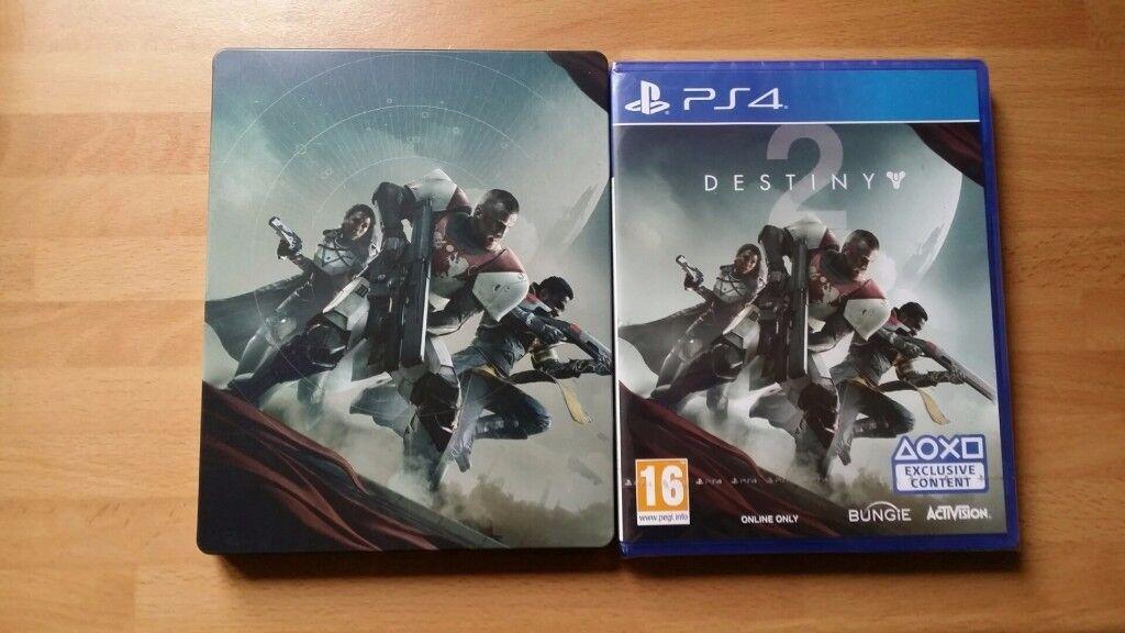 PS4 Destiny 2 w/ Steelbook. New. Sealed. All DLC.