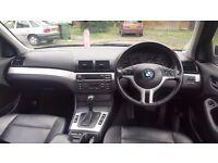 2003 (53) BMW 3 SERIES E46 325i SE 2.5L PETROL AUTOMATIC 4DR SALOON MOT FEB 17 F.S.H LEATHER INT