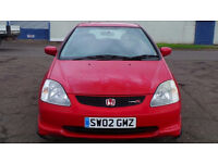 2002 02 HONDA CIVIC 2.0 TYPE-R MOT 07/17 LOADS OF UPGRADES(PART EX WELCOME)