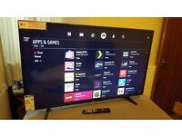 LG 49-Inch SUPER SMART 4K HDR ULTRA HD LED TV,Built-in Wifi,Freeview HD,Netflix, Excellent condition