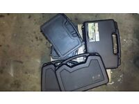 Storage/pistol cases with foam liners