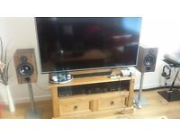 Cambridge Audio SX60 Speakers (Walnut) + Gale Stands