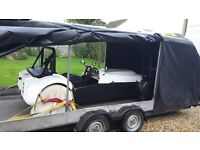 Covered confidential vehicle transportation - cars, trikes or motorcycles