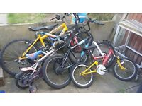 Job lot 5 bikes bicycles free local delivery