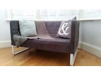 Sofa - Grey two-seat. Ikea Knopparp. Great condition