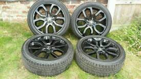 Genuine Land Rover Range Rover Evoque Dynamic 20 Inch Black Alloys with Continental Tyres