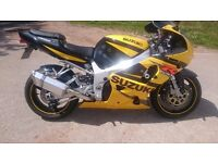 Suzuki GSXR 750 K2 PX any bike and delivery possible