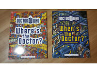 """2 Doctor Who """"Where's Wally"""" style books, brand new."""