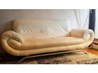 Sofas: off-white leather sofas
