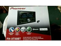 Ford Transit sterio upgrage Pioneer Bluetooth double din head unit