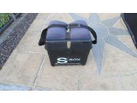 sundridge fishing seat box carp , coarse ,or sea , padded seat shoulder strap etc