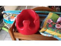 Baby Bumbo chair in red