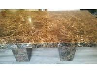 Solid marble effect table