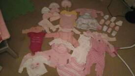 Baby girls clothes size 0-3 months