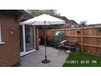Garden parasol and base