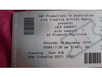 A pair of jack garrett tickets free delivery