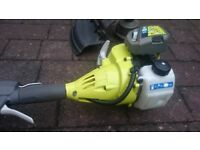 Ryobi Petrol 26cc Power Head and Attachments Hedge trimmer, Saw, Brush Cutter and Strimmer