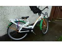 Union Dutch bike with yepp mini seat and halfords car rack