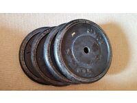 Weight plates 4 x 10 Kgs
