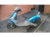 X reg piaggio zip 50cc, full logbook no mot runs/rides needs tlc