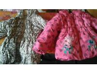 Girls jackets age 3/4 peppa leopard print winter x2